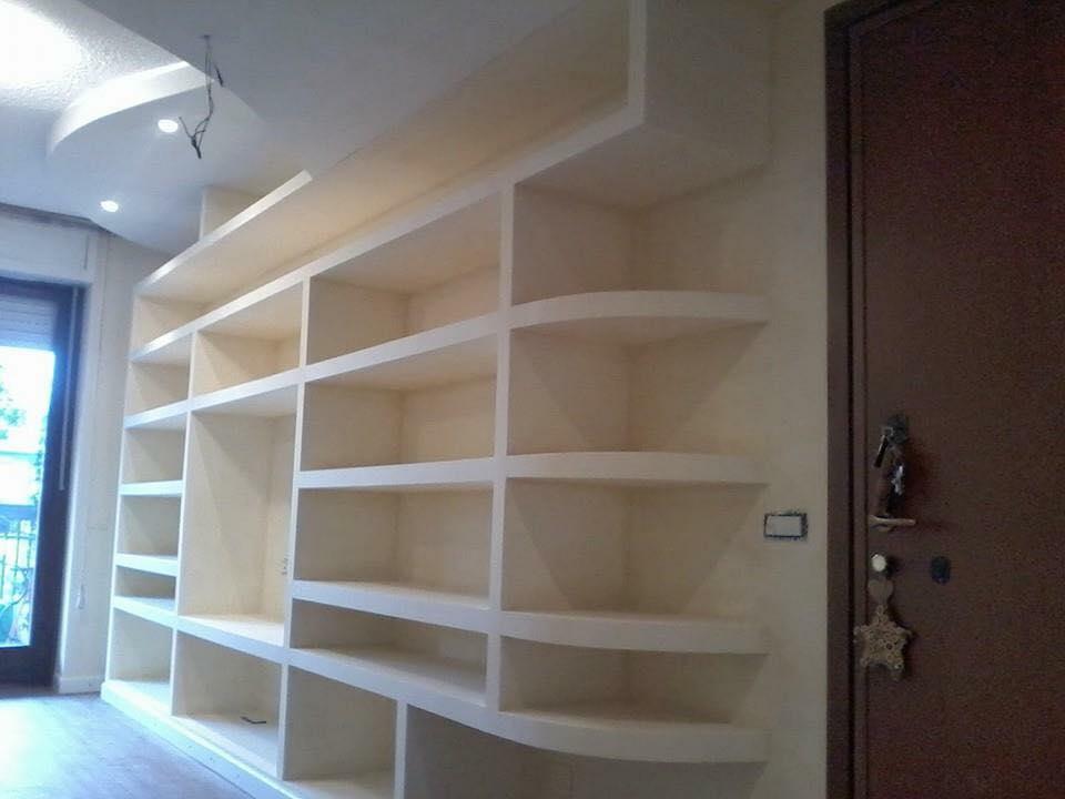 Scaffalature In Cartongesso.Librerie In Cartongesso Edile Cartongesso Milano