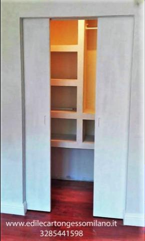 Cabina Armadio Angolare Cartongesso.Cabine Armadio In Cartongesso Edile Cartongesso Milano