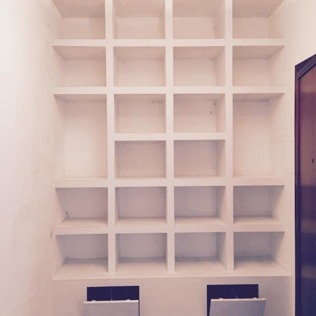 parete attrezzata in cartongesso